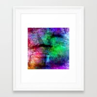 no face Framed Art Prints featuring face by  Agostino Lo Coco