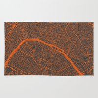 paris map Area & Throw Rugs featuring Paris map by Map Map Maps