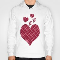burgundy Hoodies featuring Burgundy Pattern by Christina Rollo