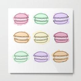 French Macarons Metal Print