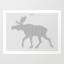 Moose Code Art Print