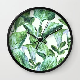 Isolde Leaves II Wall Clock