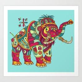 Mammoth, cool wall art for kids and adults alike Art Print