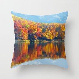 Autumn Colors at Lake Killarney Throw Pillow