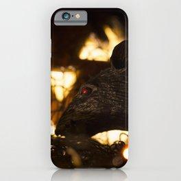 Evil Red Eyed Rat and Jack O' Lantern iPhone Case