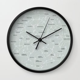 Northern Hemisphere Constellations Map Wall Clock