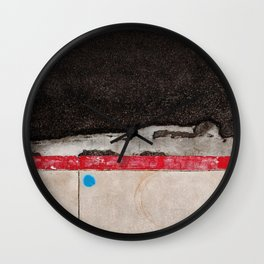 Composition In Red White And Blue (no parking) Wall Clock