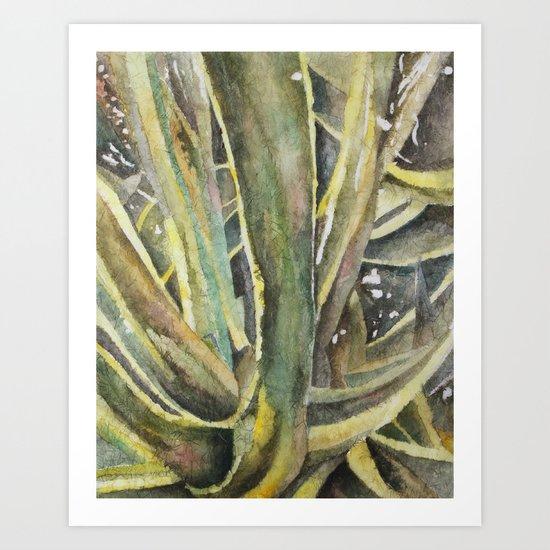Tropical Greens Art Print