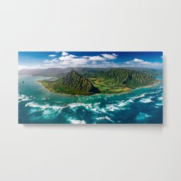 Jurassic Park Panoramic Metal Print