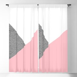 Concrete vs pink geometrical Blackout Curtain
