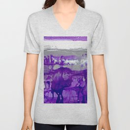 Winter in Purple and Silver Unisex V-Neck