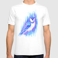 Blue Jay White MEDIUM Mens Fitted Tee