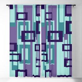 Geometric rectangles pattern violet Blackout Curtain