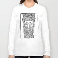 beard Long Sleeve T-shirts featuring Beard by Lawerta