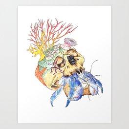 Home I: Hermit Crab Art Print