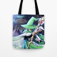 merlin Tote Bags featuring Young Merlin by panom