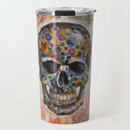 Abstract modern art painting ... Skull Travel Mug