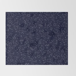 Chemicals and Constellations Throw Blanket