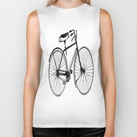 copenhagen Biker Tanks featuring Copenhagen  by PaperandPaintbrush
