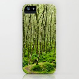Mossy Trees in Glendalough iPhone Case