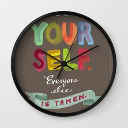 Smart People Say Smart Things Wall Clock