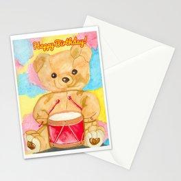 Drumming teddy bear Stationery Cards