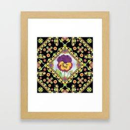 Purple Pansy Portrait Framed Art Print