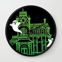 Haunted Victorian House Wall Clock