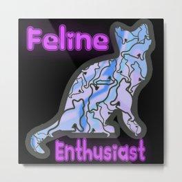 Feline Enthusiasts Metal Print
