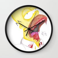 homer Wall Clocks featuring Undead Homer by renegade_v2