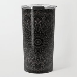 Red and Black Bohemian Mandala Design Travel Mug