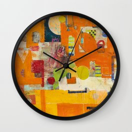Up the Down Staircase Wall Clock