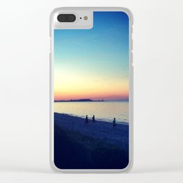 Lake Erie Sunset Clear iPhone Case