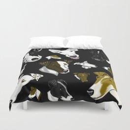 Smooth Fox Terrier- Black Duvet Cover