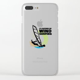 Windsurfing Colorful Graphic T Shirt and other Gift Items Clear iPhone Case