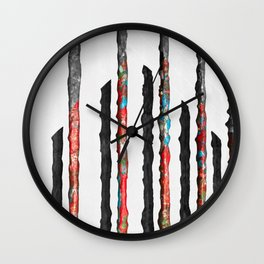 Shadows of Mellanor - The Industrial Journey Wall Clock