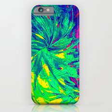 WEB OF LIES - Neon Vibrant Abstract Acrylic Painting Digital Deceit Spiderweb Manipulative Beauty iPhone 6s Slim Case