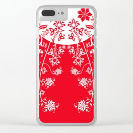 floral ornaments pattern wbp150 Clear iPhone Case
