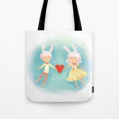 Bunny Hearts Tote Bag