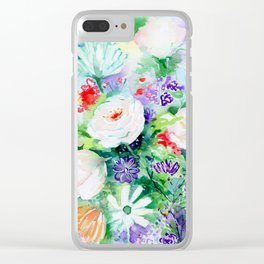 """Watercolor Painting """"Good Mood Flowers Clear iPhone Case"""