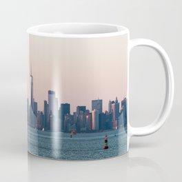 New York City Summer Sunset Skyline Coffee Mug
