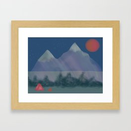 Camping Framed Art Print
