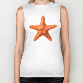 Orange starfish Biker Tank