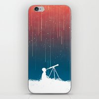 outdoor iPhone & iPod Skins featuring Meteor Rain (light version) by Picomodi