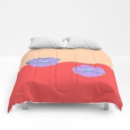 Purples poppies S44 Comforters