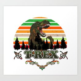 Jurassic World Boys  T-rex Short Sleeve T-Shirt Dinosaur Christmas Gift Boys Art Print