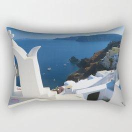 Oia Santorini c Rectangular Pillow