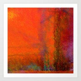 Orange Study #3 Digital Painting Art Print