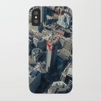 buildings iPhone & iPod Cases featuring Buildings by Nick De Clercq