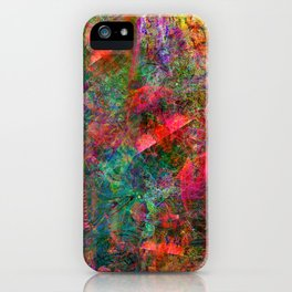 The Dissonant Tolls of September Bells (abstract, psychedelic) iPhone Case